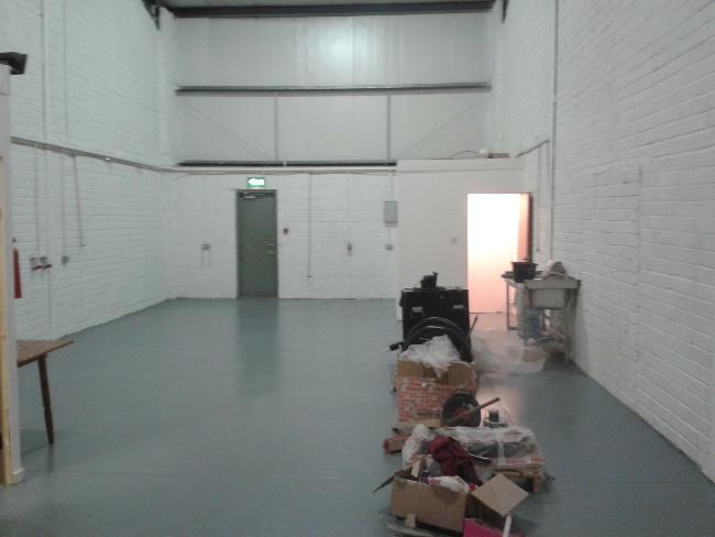 Shiny new floor goes in